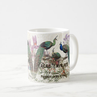 Vintage Peacock Birds Wildlife Floral Paris Mug