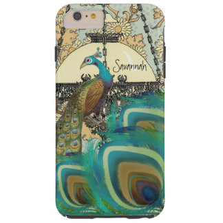 Vintage  Peacock Chandeliers and Feathers Tough iPhone 6 Plus Case