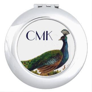 Vintage Peacock Compact Mirror