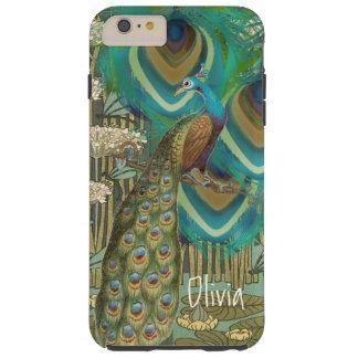 Vintage Peacock Dragonflies and Lilypads Tough iPhone 6 Plus Case