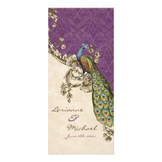 Vintage Peacock & Etchings Wedding Invitation Rack Cards