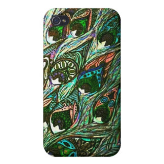 vintage peacock feather iphone case