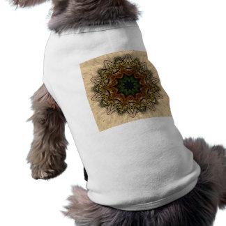 Vintage Peacock Feather Kaleidoscope Doggie Shirt