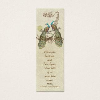 Vintage Peacock Love Birds Wedding Tags