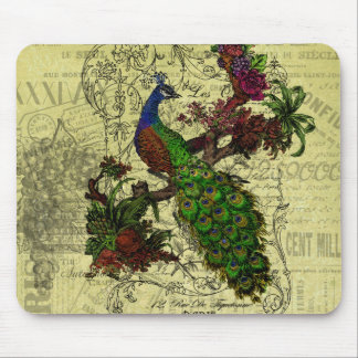 Vintage Peacock on Branch Apparel and Gifts Mouse Pad