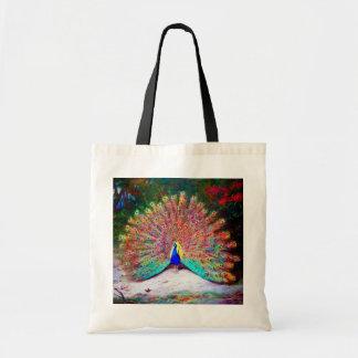 Vintage Peacock Painting Budget Tote Bag