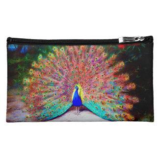 Vintage Peacock Painting Cosmetics Bags