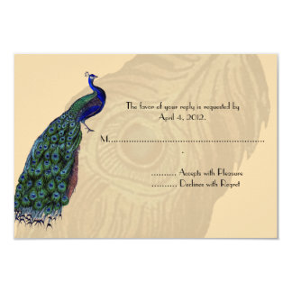 Vintage Peacock Reply Cards
