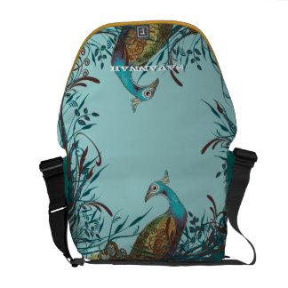 Vintage Peacock You Choose Colors Commuter Bag
