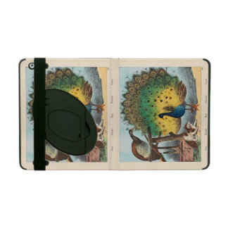 Vintage peacocks and a cat case for iPad