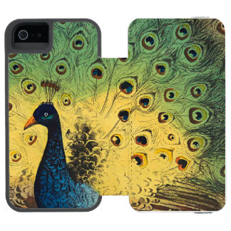 Vintage peacocks and a cat incipio watson™ iPhone 5 wallet case