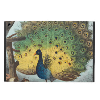 Vintage peacocks and a cat iPad air case