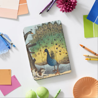 Vintage peacocks and a cat iPad air cover