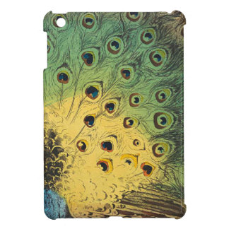 Vintage peacocks and a cat iPad mini cover