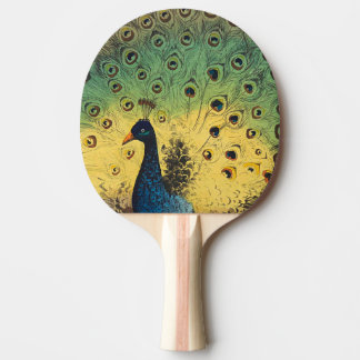 Vintage peacocks and a cat ping pong paddle