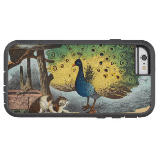 Vintage peacocks and a cat tough xtreme iPhone 6 case
