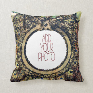 Vintage Peacocks - Best Mom Ever Throw Pillow