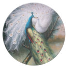 Vintage Peacocks Kiss Plate