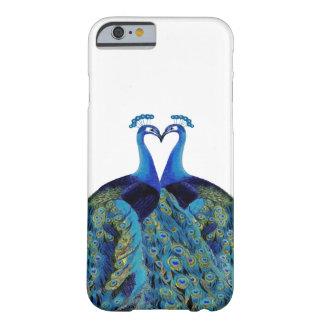 Vintage Peacocks Kissing Wedding Gifts Barely There iPhone 6 Case