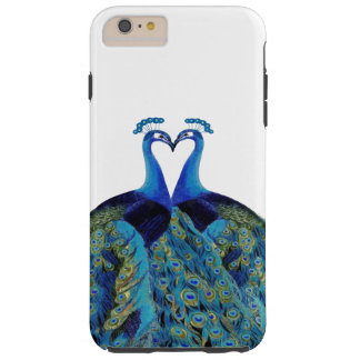 Vintage Peacocks Kissing Wedding Gifts Tough iPhone 6 Plus Case