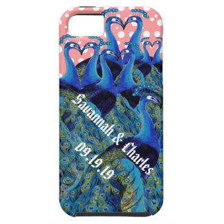 Vintage Peacocks Kissing Wedding Gifts iPhone 5 Covers