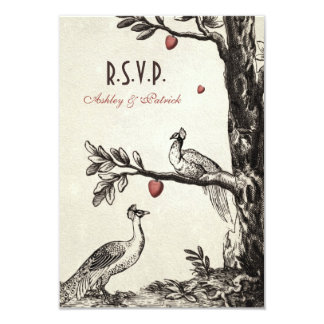 Vintage Peacocks on Love Tree Card