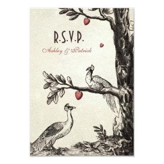 Vintage Peacocks on Love Tree Card