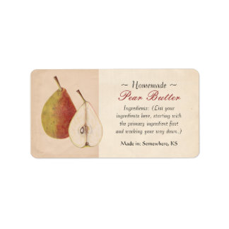 Vintage Pear Labels