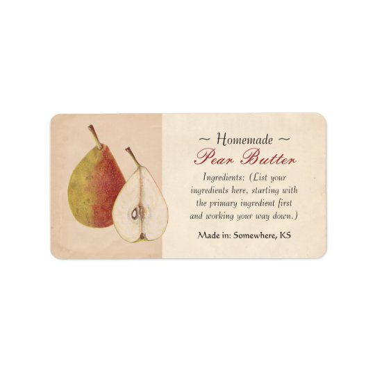 Vintage Pear Labels