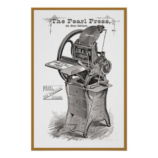 Vintage Pearl letterpress advertisement poster