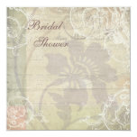Vintage Pearls & Lace Floral Collage Bridal Shower