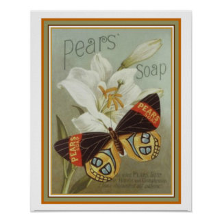 Vintage Pears Soap Ad Poster 16 x 20
