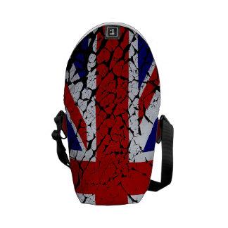 Vintage Peeling Paint Union Jack Flag Messenger Bags
