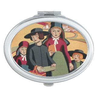 "Vintage ""Pennsylvania"" Compact Mirror"