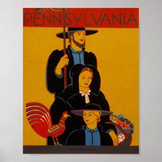 Vintage Pennsylvania Poster