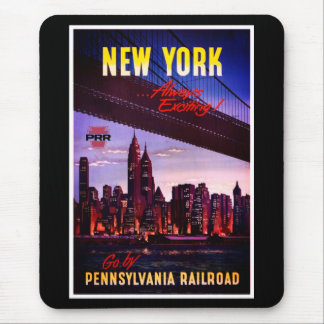 Vintage Pennsylvania Railroad to New York Mouse Pad
