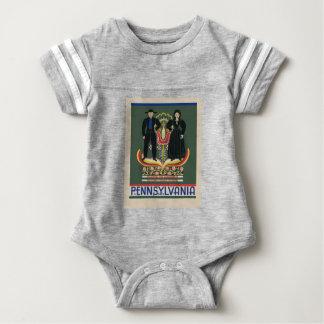 Vintage Pennsylvania Travel Baby Bodysuit