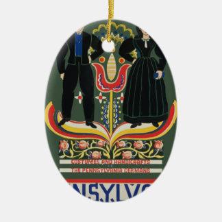 Vintage Pennsylvania Travel Ceramic Ornament
