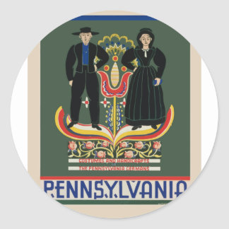 Vintage Pennsylvania Travel Classic Round Sticker