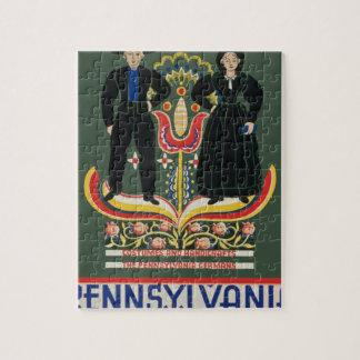 Vintage Pennsylvania Travel Jigsaw Puzzle