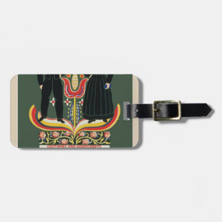 Vintage Pennsylvania Travel Luggage Tag