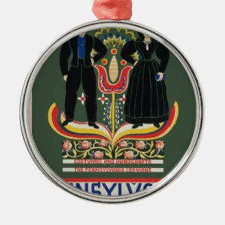 Vintage Pennsylvania Travel Metal Ornament