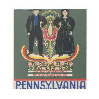 Vintage Pennsylvania Travel Notepad