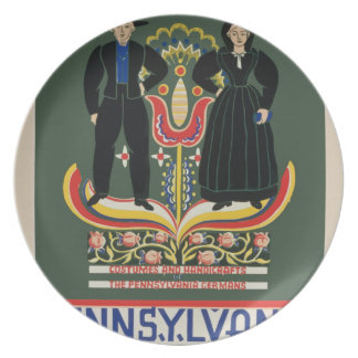 Vintage Pennsylvania Travel Plate