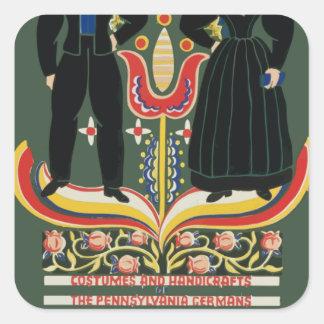 Vintage Pennsylvania Travel Square Sticker