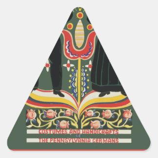 Vintage Pennsylvania Travel Triangle Sticker