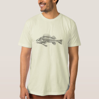 Vintage Perch Fish Skeleton - Fishes Template T-Shirt