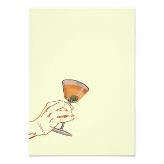 Vintage Perfect Martini Bar Party Blank Invitation