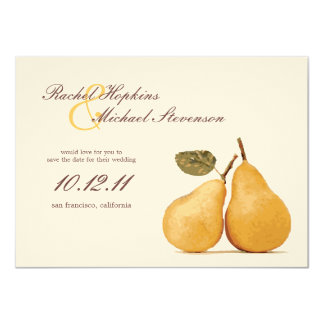 Vintage Perfect Pair Wedding Save the Date Card