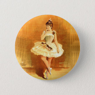 Vintage Performing Arts Poster Ballerina Girl 1890 2 Inch Round Button